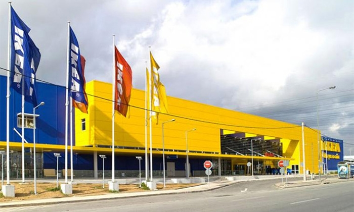 new ikea center in west athens hellinotechniki s a. Black Bedroom Furniture Sets. Home Design Ideas